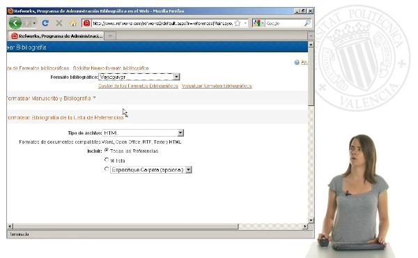 Cómo crear una bibliografía desde RefWorks