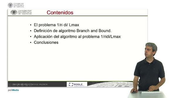 Algoritmo Branch and Bound para secuenciación en configuraciones 1/ri di/Lmax