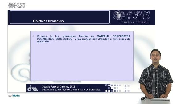 Materiales Compuestos Ecológicos. Definición y Clasificaciones. Green Composites