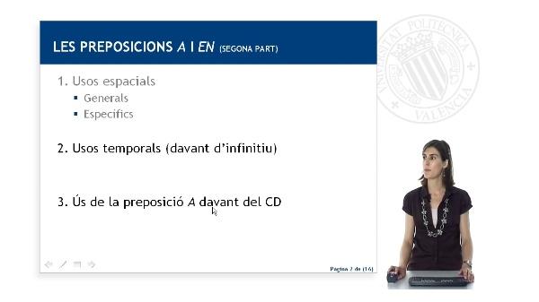 Les preposicions 'a' i 'en' (segona part)
