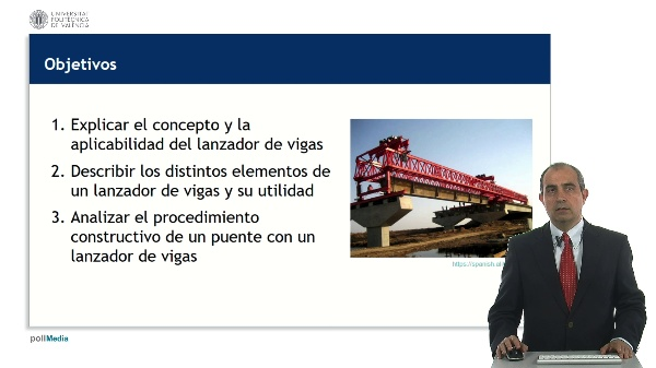 Construcción de puentes mediante lanzador de vigas