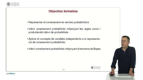 Raonament probabilístic: representació i inferència.