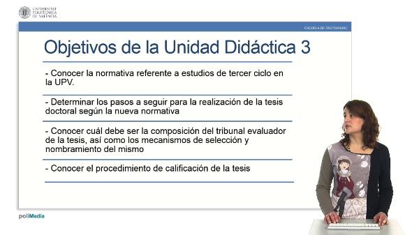 El Doctorado: normativa y realización