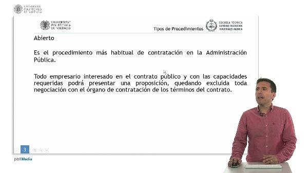 Ley de Contratos del Sector Público. Tipos de Procedimientos.