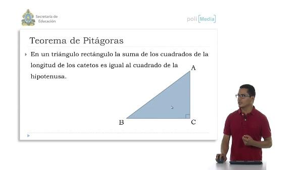 Cálculos aplicando el teorema de Pitágoras