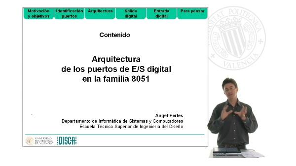 Arquitectura  de los puertos de E/S digital en la familia 8051