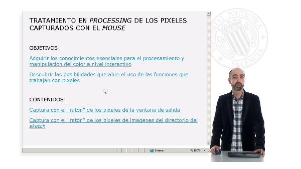 Tratamiento de los pixeles capturados con el mouse