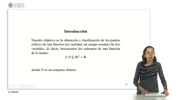 Extremos locales de funciones de dos variables.