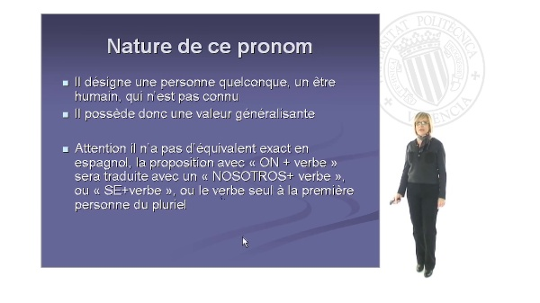 Le cas du pronom personnel 'ON'