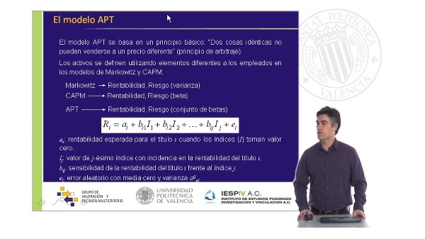 El modelo APT (Arbitrage Pricing Theory)