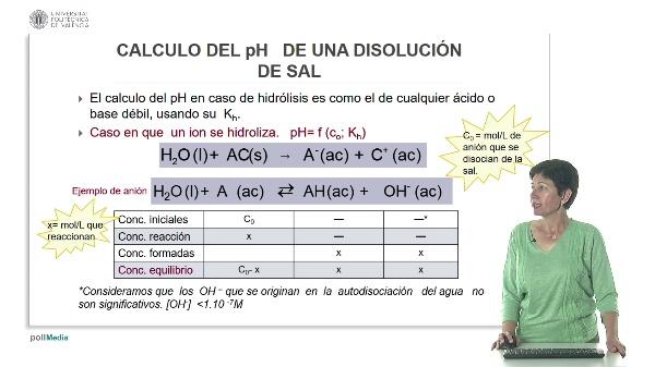 Lección 4. Cálculo del pH de una sal.