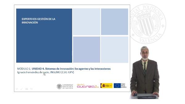 Unidad 4. Sistema de innovación: los agentes y las interacciones