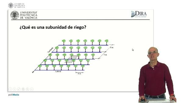Diseño y dimensionado de subunidades de riego localizado con emisores no compensantes utilizando la aplicación