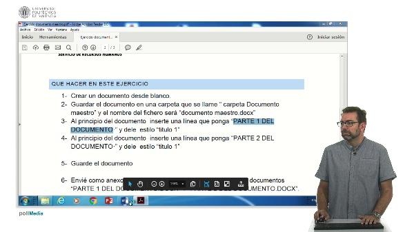 Ejercicio Documentos Maestros Word 2016