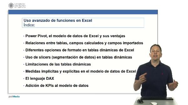 Excel. Power Pivot. Modelo de datos. Índice