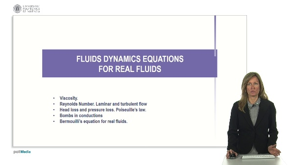 Fluids dynamics equations for real fluids