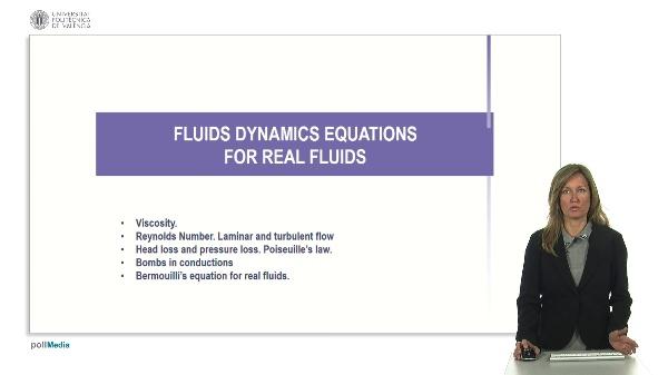 Fluids dynamics equations for real fluids