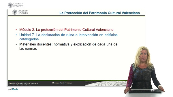 La protección del patrimonio cultural valenciano. Módulo 2. Unidad 7