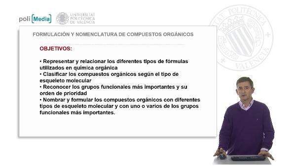 Formulación y nomenclatura de compuestos orgánicos