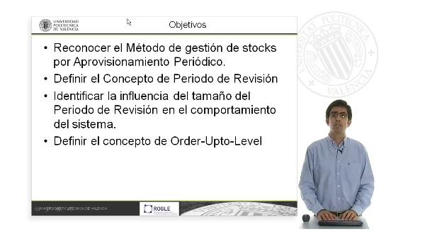 Gestión de stocks por aprovisionamiento periódico