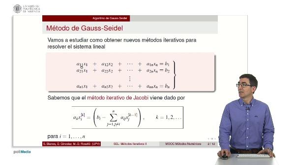 Resolución de sistemas lineales: Métodos iterativos II