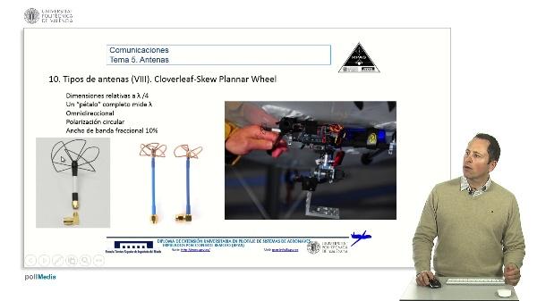 Master RPAS. Asignatura comunicaciones. Antenas cloverleaf y skew planar wheel