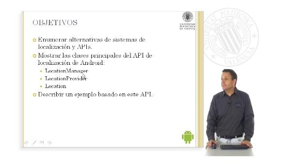 El API de localización de Android.