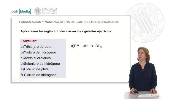 Compuestos binarios con hidrógeno. Soluciones ejercicio práctico