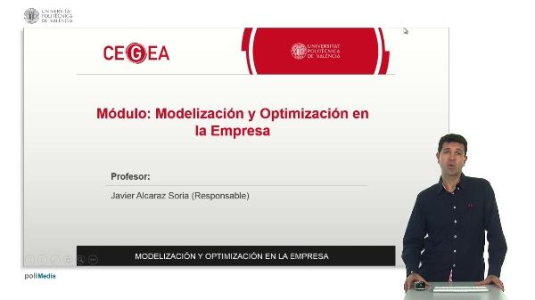 Presentación módulo: Modelización y Optimización en la Empresa