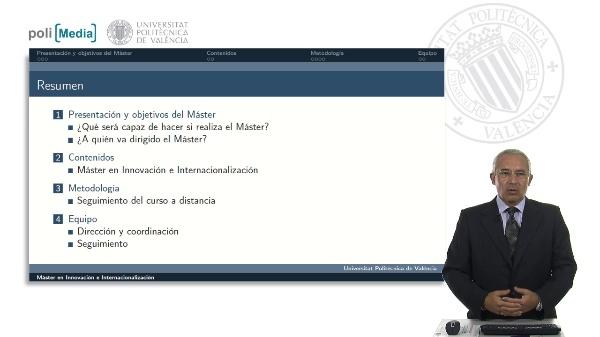 Máster Innovación e Internacionalización. Presentación