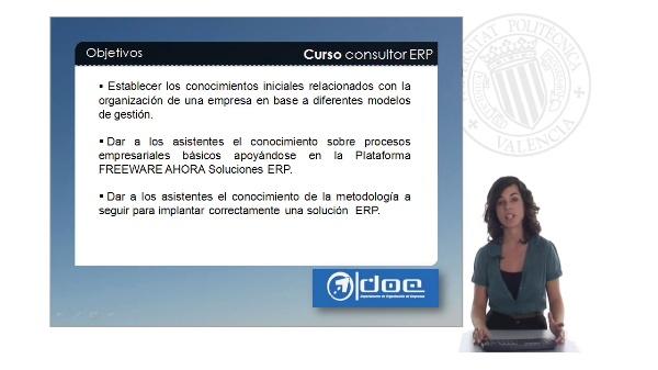 Curso de consultor de implantación de soluciones ERP