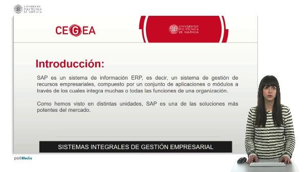 SAP. Sistemas integrales de gestión empresarial.