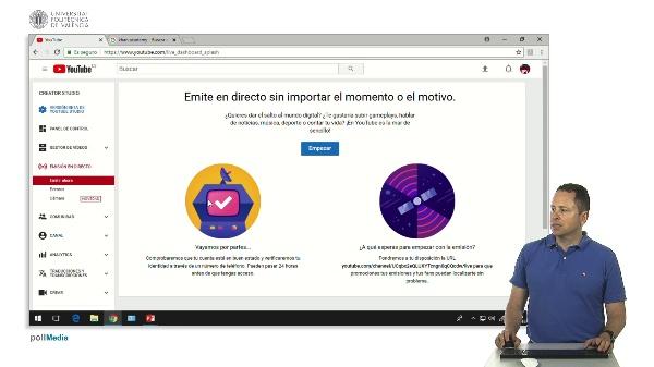 Youtube. Emisión en directo