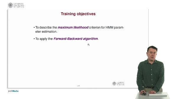 HMM learning: Forward - Backward algorithm