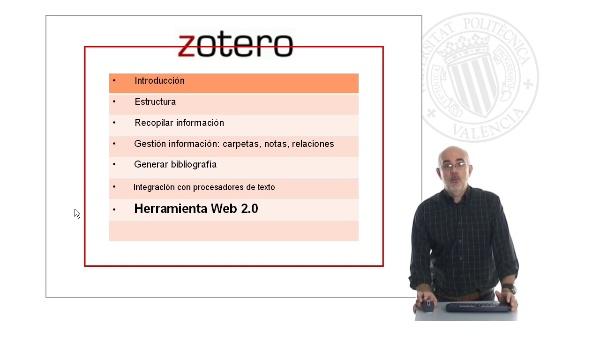 Zotero 4: Funcionalidades Web 2.0: red social. (4/4)
