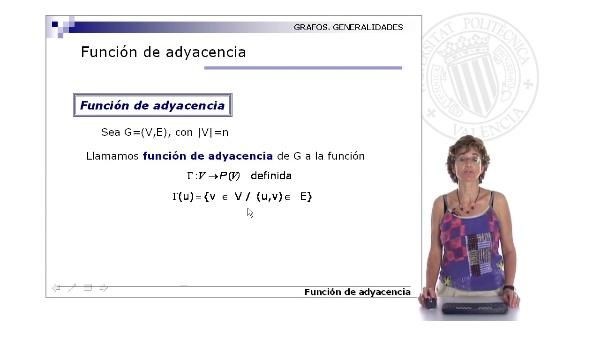 Representación de grafos. Función de adyacencia