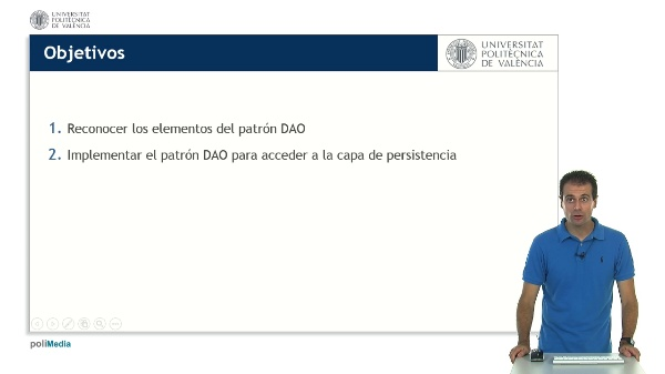 Implementación del patron DAO (Data Access Objecto)