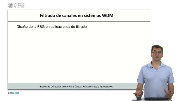 Filtrado de canales en sistemas WDM