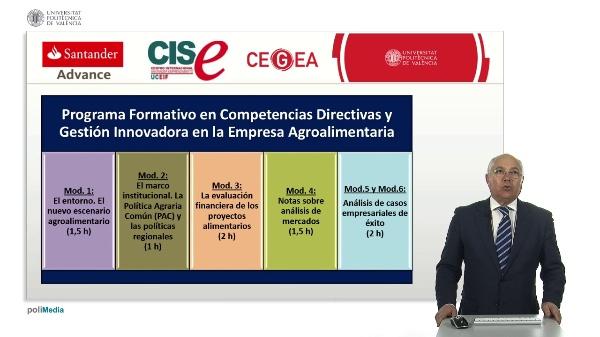 Programa Formativo. Competencias Directivas y Gestión Innovadora en la Empresa Agroalimentaria.