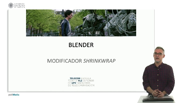 Blender: Modificador Shrinkwrap.