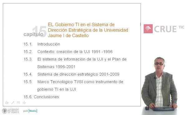 El Gobierno TI en el Sistema de Dirección Estratégica de la Universidad Jaume I de Castelló