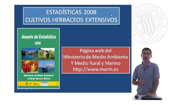 Estadísticas sobre cultivos herbáceos extensivos