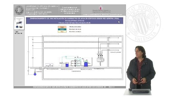 Hidráulica. Dimensionamiento de una instalación de suministro de agua en edificios desde red general de abastecimiento