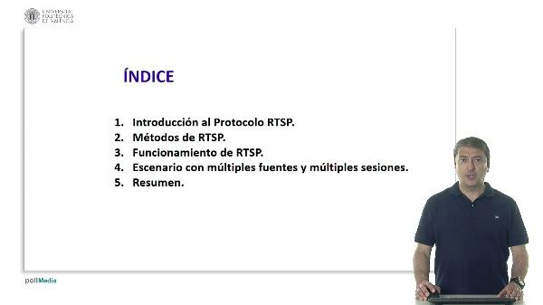 Intercambio de mensajes RTSP en escenario con múltiples fuentes y múltiples sesiones RTSP