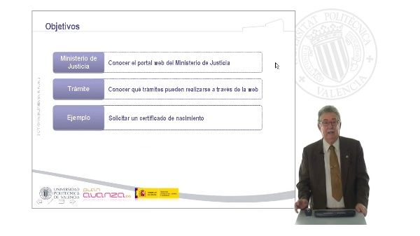 El Ministrerio de Justicia en Internet