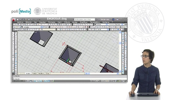 Modelado 3D mediante engrosar con Autocad