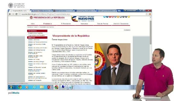 Presencia en internet de los estamentos de gobierno de Colombia