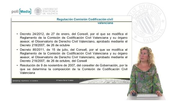 La Comisión de Codificación civil valenciana