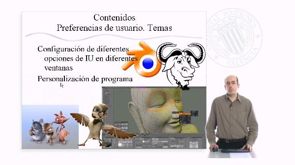 Preferencias de usuario. Temas en Blender