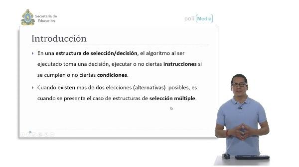 Estructura de Selección Múltiple. Ejemplo